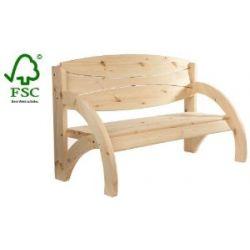 Impag® Gartenbank Parkbank Holzbank 3-Sitzer Natur Jorn