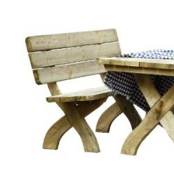 Sitzbank aus Holz 168x60x90 cm Gartenbank für Gartengarnitur Tirol