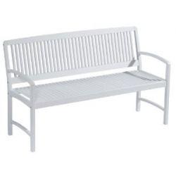 BALKE design Gartenbank Bank Bahamas 3-Sitzer weiß lackiert