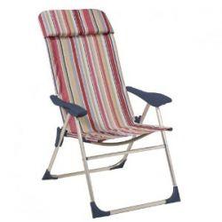 greemotion 437575 Klappsessel Stripe, 4-fach verstel 60 x 60 x 110 cm - farblich Sortiert