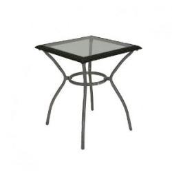 greemotion 414840 Tisch Bondy, 60 x 60 x 74 cm, silber/schwarz