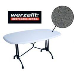 Werzalit Gastronomie Tischplatte Granit 160x97 Bistrotisch Gastro Tisch schwarz