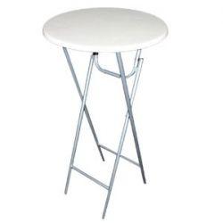 Stehtisch Bartisch Bistrotisch, weiße Tischplatte, Metallgestell, klappbar, 60 x 120 cm