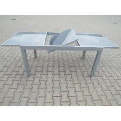 Ausziehtisch PISA 180/240x100cm, Aluminium + Glas