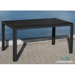 KMH, Schöner schwarzer Holzimitat-Tisch (150 x 90) (#106036)