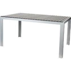 Aluminium Tisch 150 x 90 cm mit Non Wood Platte, anthrazit, wetterfest