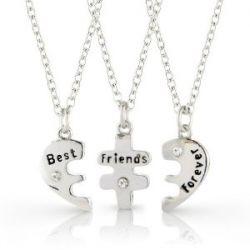 """Best Friends Forever"" - Kette (3tlg.) , 3 Freundschaftsketten"
