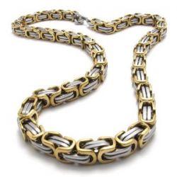 KONOV Schmuck Herren-Kette, Edelstahl Biker Königskette Halskette, Gold Silber, Breite 8mm, Länge 55cm, mit Geschenk Tüte