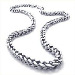 KONOV Schmuck Herren-Kette, Edelstahl Biker Königskette Halskette, Silber, Breite 6mm, Länge 55cm, mit Geschenk Tüte