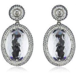 Swarovski Damen-Ohrhänger Vita Swarovski-Kristall Palladium weiß 5008671