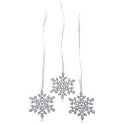Swarovski Figurine Crystal Pixel Snowflake Ornament (3er Set) 7,5 x 7,5 cm 1135179
