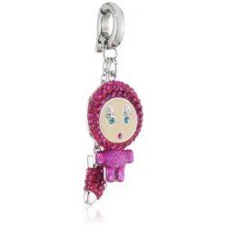 Swarovski Damen-Charm Emaille Swarovski-Kristall Metall pink Erika Pink 1111143