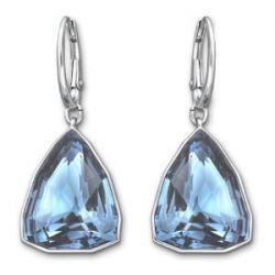 Swarovski Damen-Ohrhänger Virtuous Swarovski-Kristall Metall blau rhodiniert 5008697