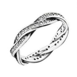 Pandora Damen-Ring 925 Sterling Silber Zirkonia weiß Gr.54 (17.2) 190892CZ-54