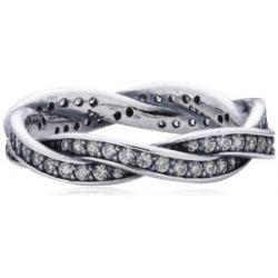Pandora Damen-Ring 925 Sterling Silber Zirkonia weiß Gr.52 (16.6) 190892CZ-52