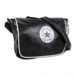 Converse Tasche Vintage Patch Shoulder Flap Bag black - 40 cm x 30 cm x 10 cm