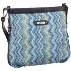 Gabor TINA Handtasche, blau 6630 50, Damen Umhängetaschen 28x26x7 cm (B x H x T)