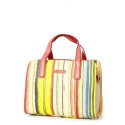 Oilily Palm Stripe Handbag - Khaki