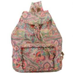 Oilily Rucksack Folding Backpack Winter Ovation in Indigo, Biscuit oder Coffee