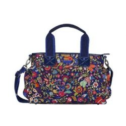 Oilily Poppies Handbag - Indigo
