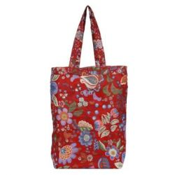 Oilily Winter Blossom Folding Shopper - Scarlett