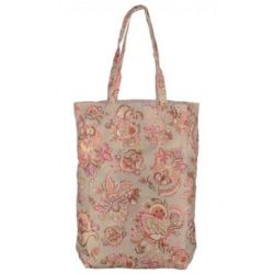 Oilily Summer Flowers Folding Shopper - Sand