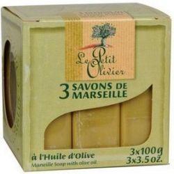 Le Petit Olivier Mydło marsylskie w kostce oliwa z oliwek 3 x