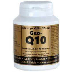 Geo Q10 Kapseln à 30 mg Coenzym Q10 und 30 mg Vitamin E, 90 Stück, 1-er Pack (1 x 34 g)