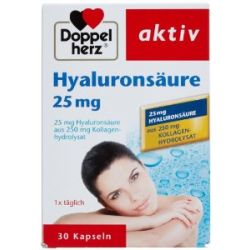 Doppelherz Hyaluronsäure, 30 Kapseln, 2er Pack (2 x 20 g)