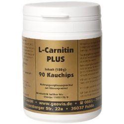 Geovis L-Carnitin - plus Kreatin, Maca, Acerola-Vit. C, Yams, 90 Kauchips à 300 mg, 1er Pack (1 x 180 g)