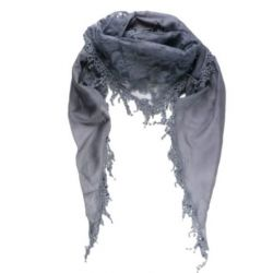 Sassy You Damen Vintage-Stil Dreieck Baumwolle und Seide Schal mit Spitze Blumen-Design - 160cm x 55cm