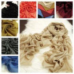 Prettystern - 250cm X 70cm 80% Wolle 20% Seide metallic Glanz unifarbe leicht Pashmina Schal - 8 Farben