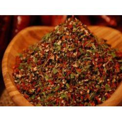 Kräuterpfeffer Gewürzmischung, geschrotet, für Salate, Fleisch, Kräuterbutter und Gemüse, 100g