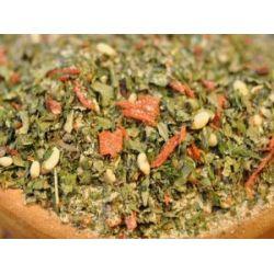 Rucola Pesto Gewürzmischung, Premium-Mischung mit Pinienkernen, für Dips, Pesto, zum Würzen von Nudelgerichten & Soßen, Trockenpesto, 100g