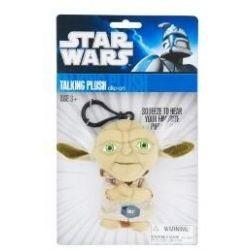 Spielwaren: Joy Toy 100248 - Star Wars: Yoda, sprechender Plüschschlüsselanhänger, 10 cm