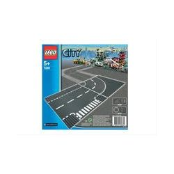 Spielwaren: LEGO® City 7281 - Kurve/T-Kreuzung  von Lego City