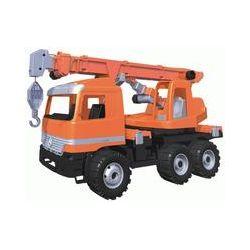 Spielwaren: Lena 02177 - Starke Riesen Actros Kranwagen, orange, ca. 70 cm