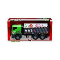 Spielwaren: Dickie 203415775 - Pump Action Dump Truck, 55 cm, grau/grün