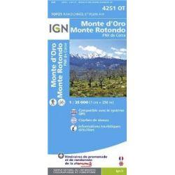 Korsika Monte d'Oro - Monte Rotondo 1 : 25 000: Parque National de la Corse (Ign Map) [Folded Map] [Französisch] [Landkarte]