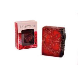 Orientana naturalne mydło z gąbką złuszczającą luffa róża japońska i liczi 100g