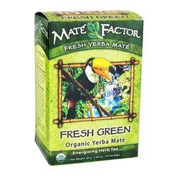 Mate Factor - Organic Yerba Mate Energizing Herb Tea Fresh Green - 24 Tea Bags