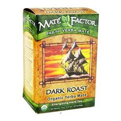 Mate Factor - Organic Yerba Mate Energizing Herb Tea Dark Roast - 20 Tea Bags