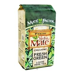 Mate Factor - Organic Yerba Mate Loose Herb Tea Fresh Green - 12 oz.