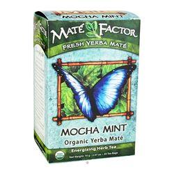 Mate Factor - Organic Yerba Mate Energizing Herb Tea Mocha Mint - 20 Tea Bags