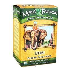 Mate Factor - Organic Yerba Mate Energizing Herb Tea Chai - 20 Tea Bags