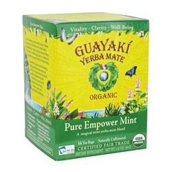 Guayaki - Yerba Mate Pure Empower Mint 100% Organic - 16 Tea Bags