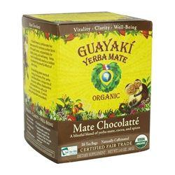Guayaki - Yerba Mate Chocolatte 100% Organic - 16 Tea Bags