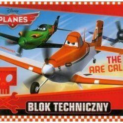 Blok techniczny Planes A4 10 kartek The Skies