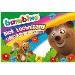Blok techniczny A4 kolorowy - Bambino