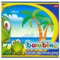 Blok techniczny Bambino 10 kartek A4 Dinozaur